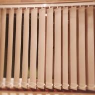 Hessian vertical blinds