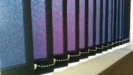 Midnight blue light filtering Vertical blinds