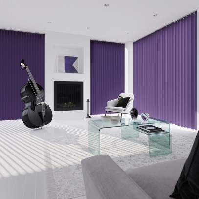 Splash - Berry Purple vertical Blinds