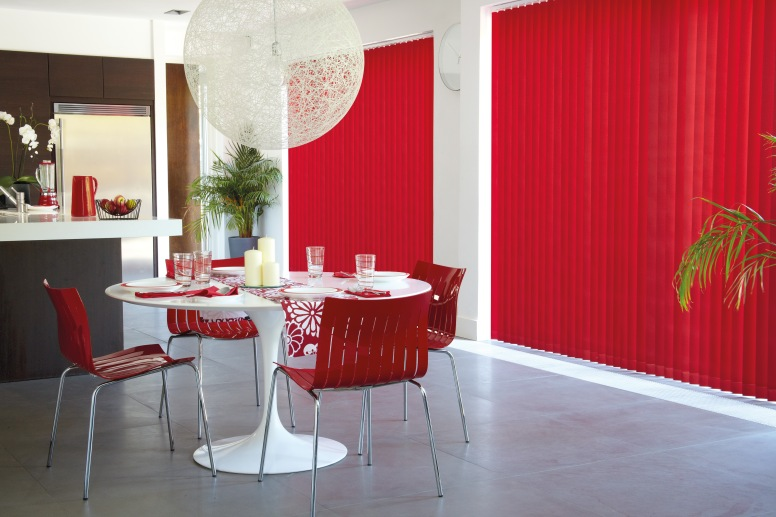 Vitra Flame - Blackout Red Verticlal Blinds