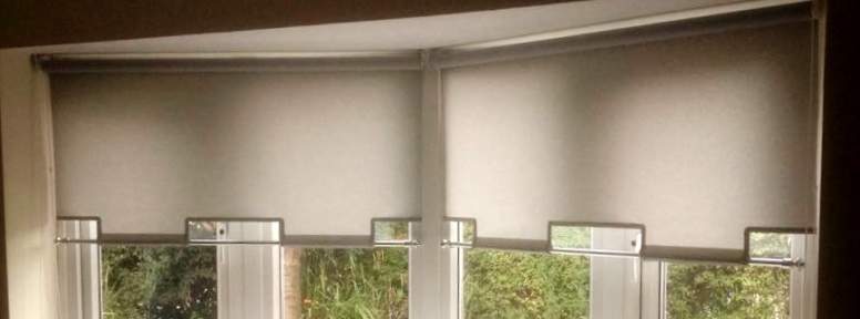 White Quad Roller blind