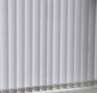 Moreton White patterned vertical blinds