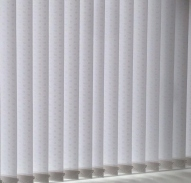 Moreton White patterned vertical blinds
