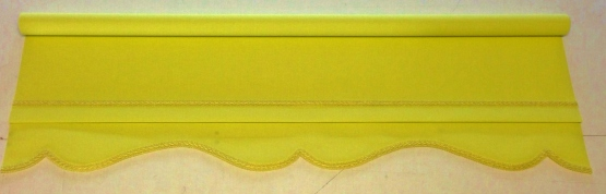 Yellow roller blind - Colonial with yellow braid
